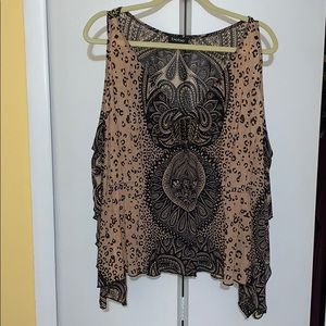 Bebe animal print stone blouse